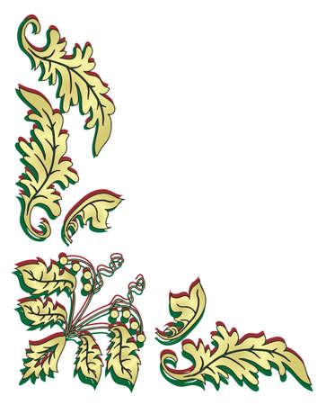 crocket: Plant ornament for the angular design.  Illustration