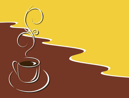 zest: A cup of hot black coffee. Vector illustration