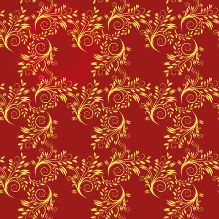 Seamless background of red and yellow.  illustration Vector