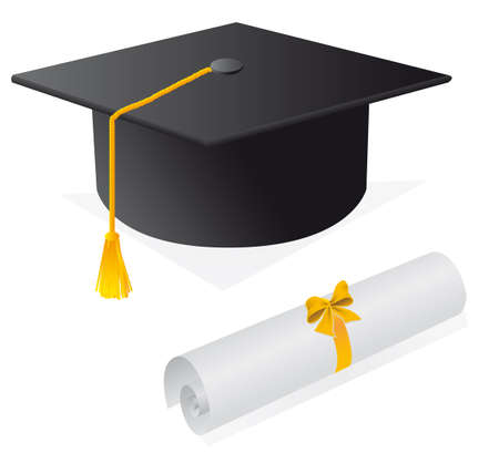 Cap and diploma for the student.