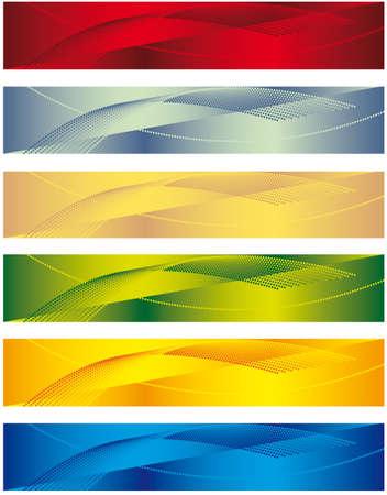 A set of banners for the design. illustration Illustration