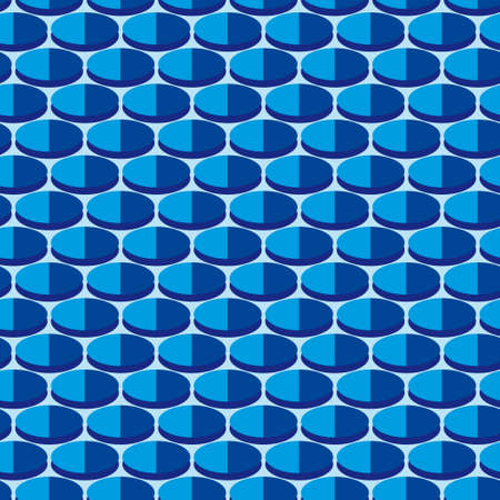 Seamless background with blue circles. illustration Vector