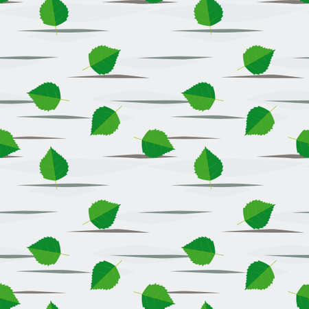 birch forest: Seamless background from birch leaves