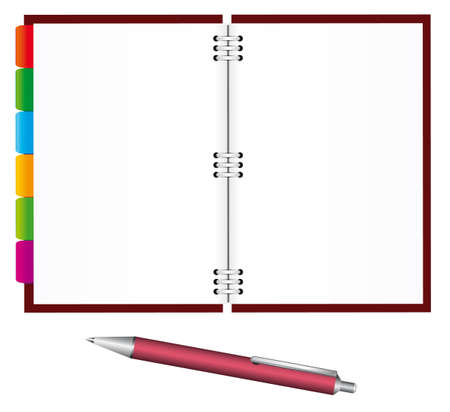Notebook and pen for office. Stock Vector - 7671803