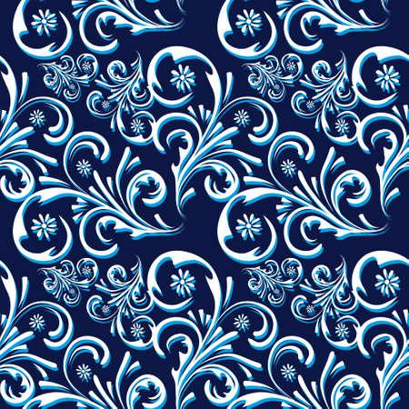 Nahtlose Hintergrund ist blau und weiß.  Illustration