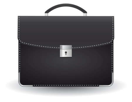 carry bag: Black briefcase for the businessman. illustration