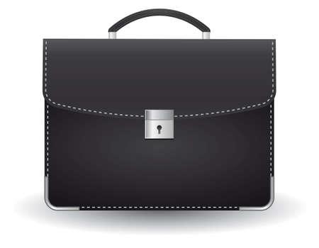 black briefcase: Malet�n negro para el empresario. Ilustraci�n
