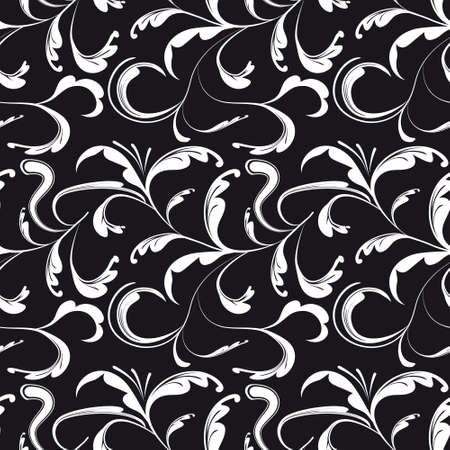 venetian victorian: Seamless background black and white. Vector illustration