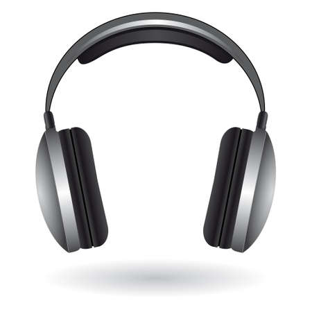 Das Symbol mit dem Kopfhörer. Vektor-illustration