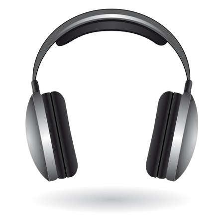 audifonos: El icono con los auriculares. Ilustraci�n vectorial