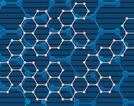 Abstract background of the molecules. Vector illustration Vector