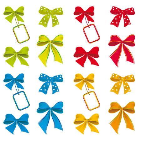The collection of ribbons for design. Vector
