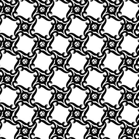 Seamless background of black and white.  Vector
