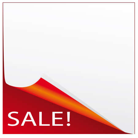 The sticker on the sale of red and white. illustration Vector