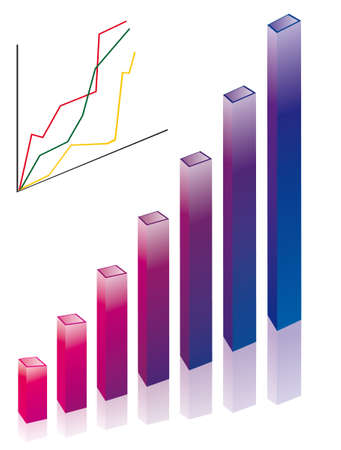 Chart the growth of our business. Vector illustration Vector