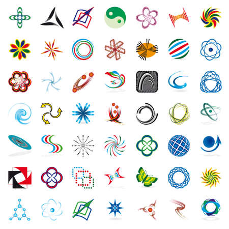 Set of symbols for the business. Vector illustration Stock Vector - 8397049
