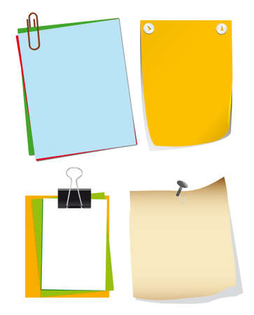 A set of paper for notes. Vector illustration Vector