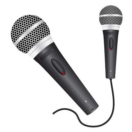 radio button: Icona con un microfono nero