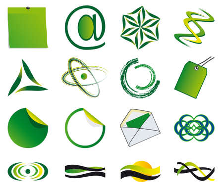 Set of symbols for the business. illustration Vector
