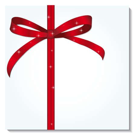 Red ribbon for a festive gift. illustration Stock Vector - 8457761
