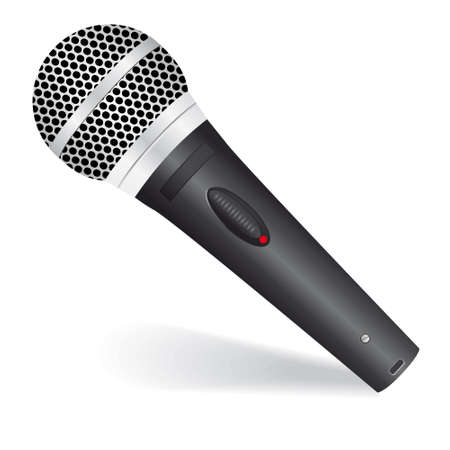 oldie: Icon with a black microphone. illustration