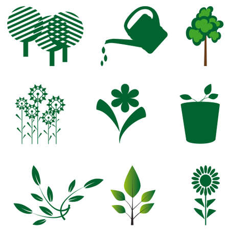 Character outlines details of nature Stock Vector - 8625879