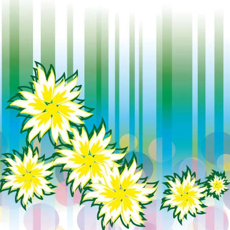 naturism: Abstract background with white flowers. illustration Illustration