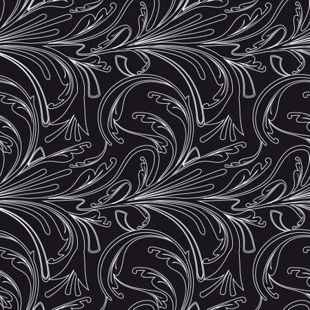 Seamless background black and white. illustration Vector