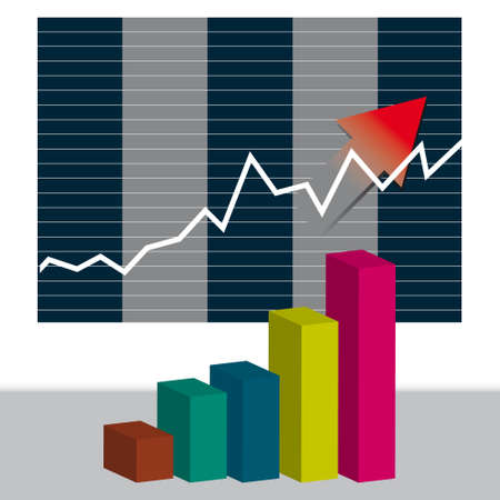 Chart the growth of our business.  illustration Vector