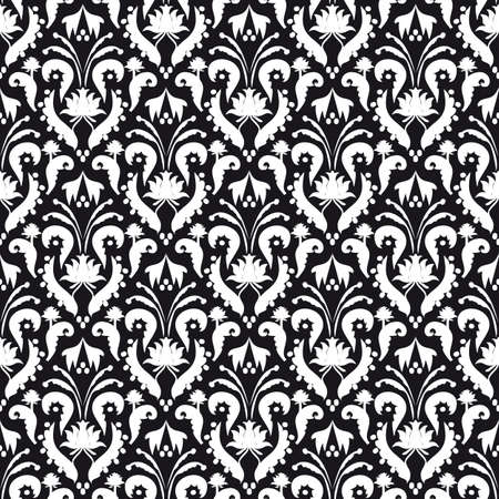 Seamless background black and white Stock Vector - 8759003