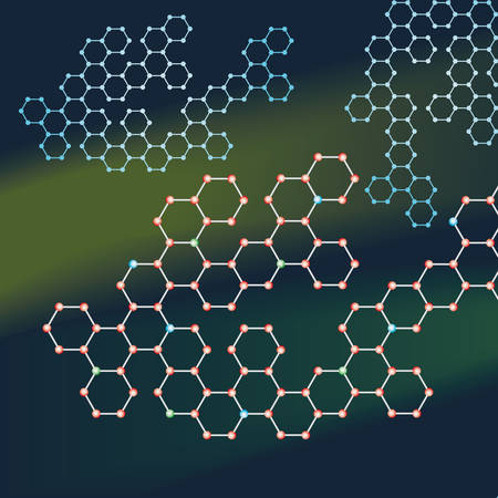Abstract background of the molecules Vector