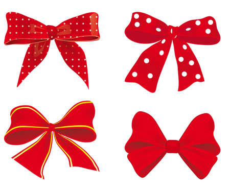 A collection of red ribbons. illustration Vector