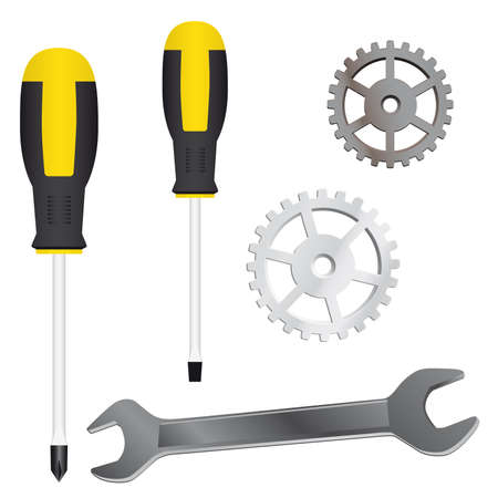 A set of tools for repairs. Vector illustration Vector