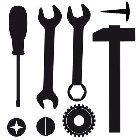 A set of tools for repairs. Vector illustration Illustration