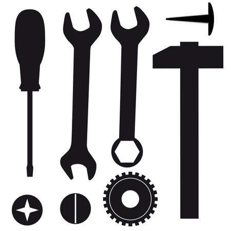 reparaturen: Eine Reihe von Tools f�r Reparaturen. Vektor-illustration