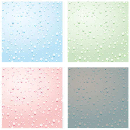 A set of raindrops on glass. Vector illustration Vector