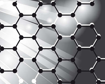 mesh structure: Abstract background of the molecules Illustration