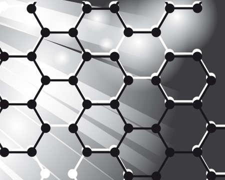 Fondo abstracta de las moléculas Ilustración de vector