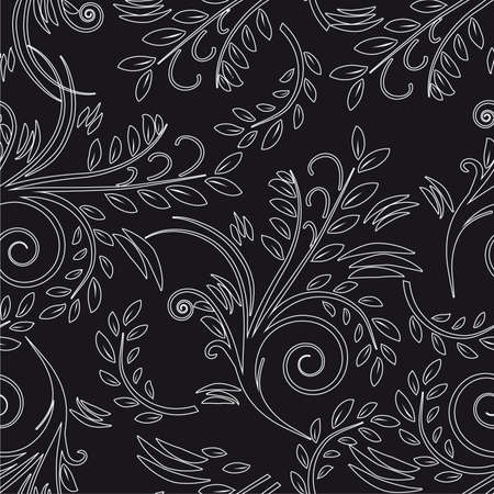 Seamless background black and white.  Vector