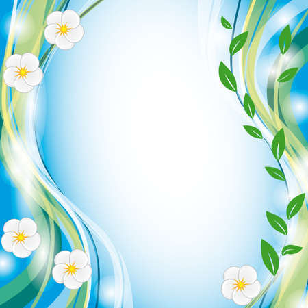 naturism: Summer background with white flowers. Illustration