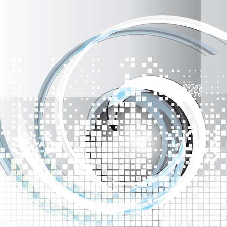 conectar: Fondo gris abstracto con remolinos. Ilustraci�n vectorial