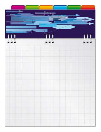 cuaderno espiral: Port�til de espiral con espacio en blanco