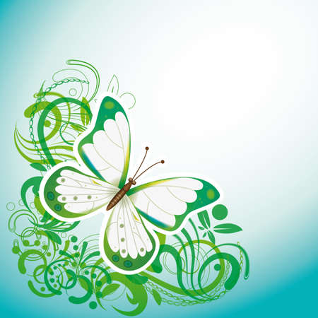 Abstract background with a butterfly. Vektorové ilustrace