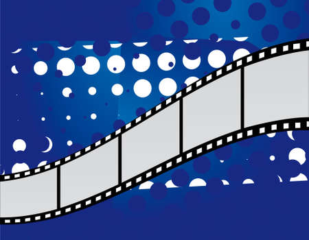 Film on an abstract background Vector