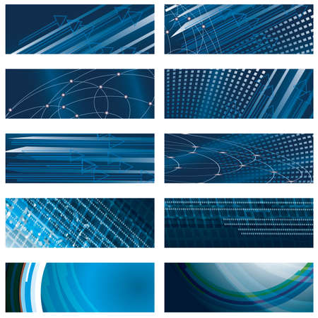 A set of abstract blue background. Vector illustration Vector
