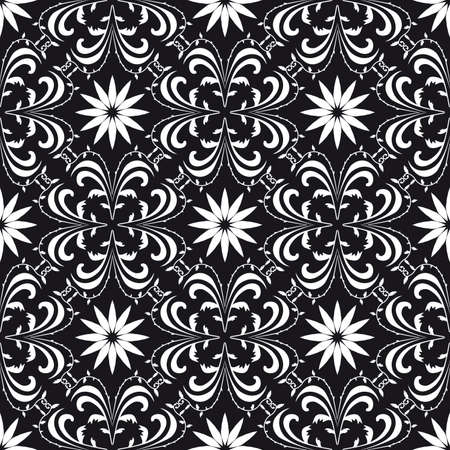 Seamless background black and white. Vector illustration Stock Vector - 9931175