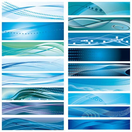 connecting: A set of abstract blue background. Vector illustration