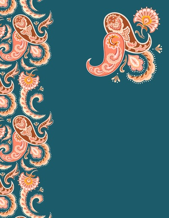 paisley background: Paisley background design: border & design element.