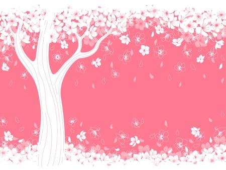 Spring background with blossom sakura. Illustration