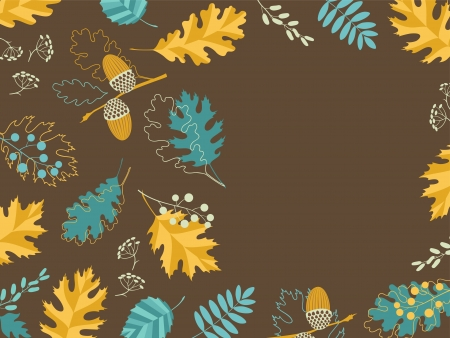 Autumn frame with leaves Stock Vector - 15101100